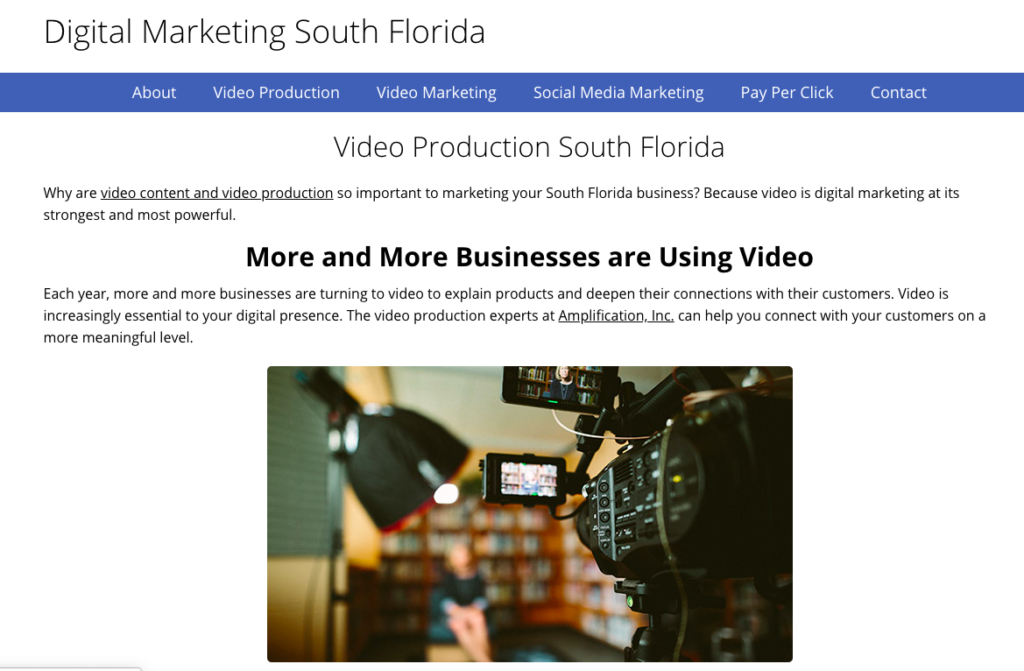 Small Business Website: Digital Marketing South Florida