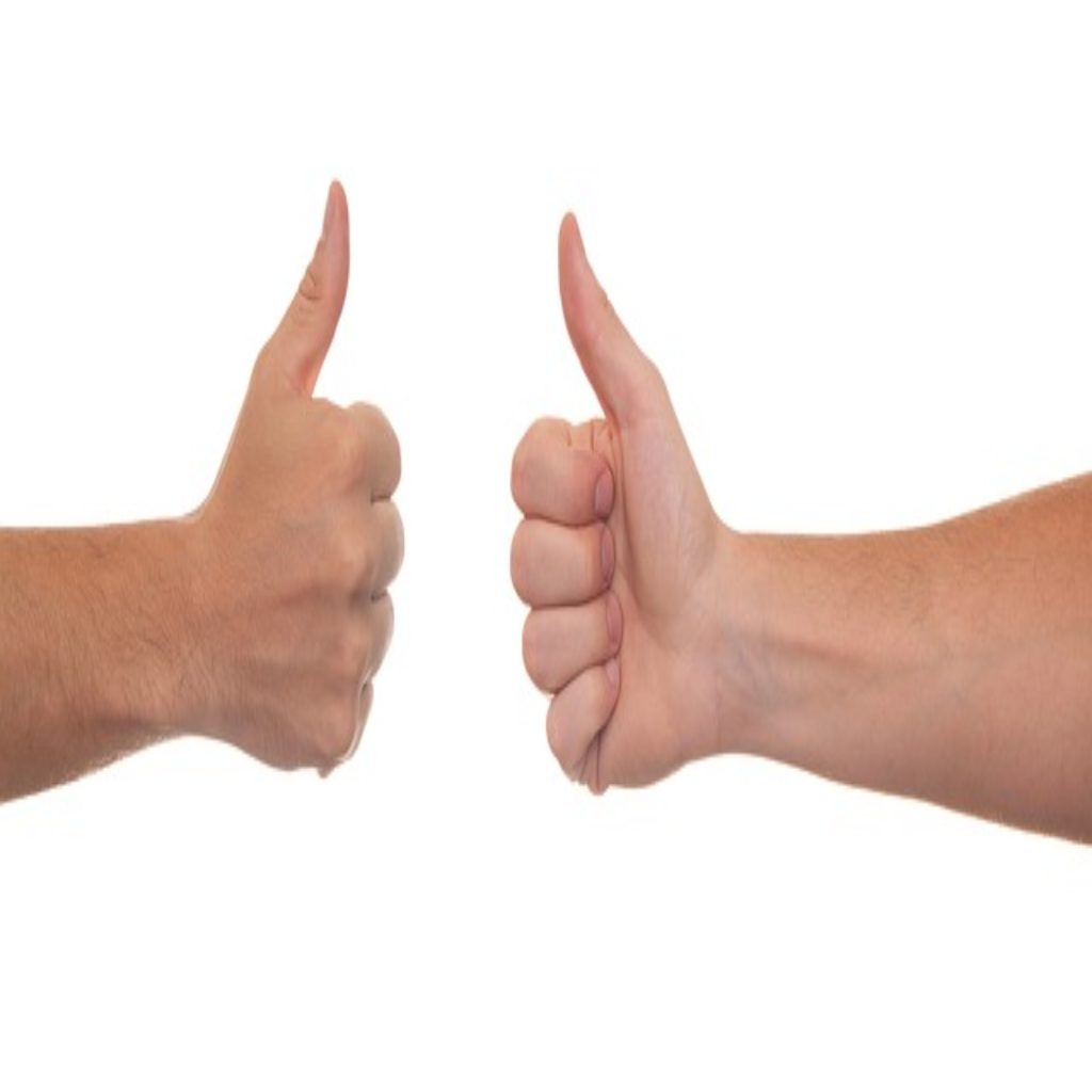 Thumbs up likes